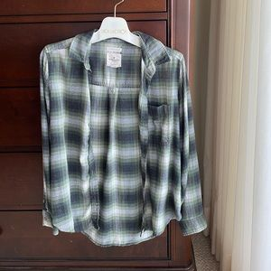 Green American Eagle Flannel